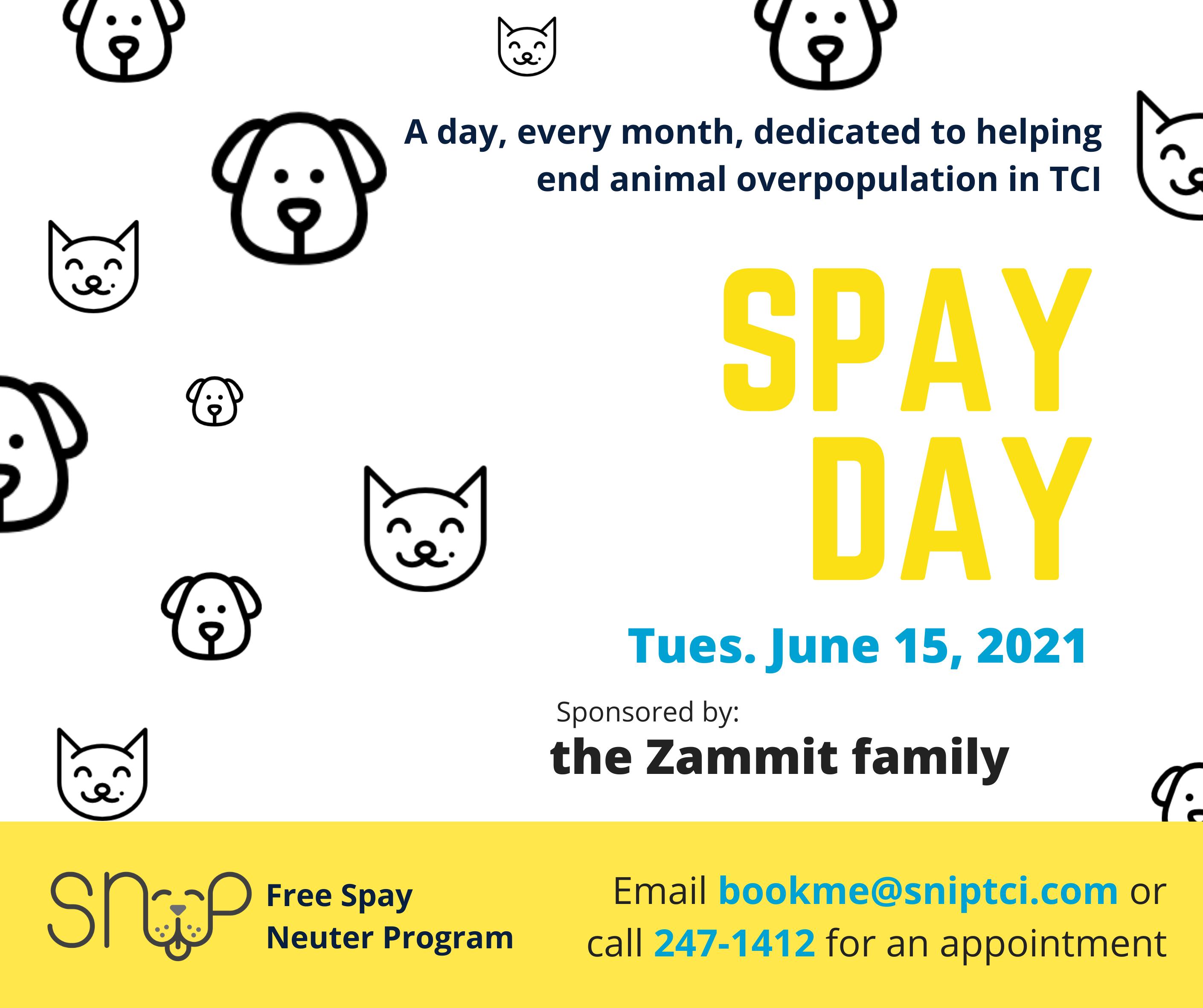 SNiP TCI Spay Day - June 15 Sponsor Zammit Family.png